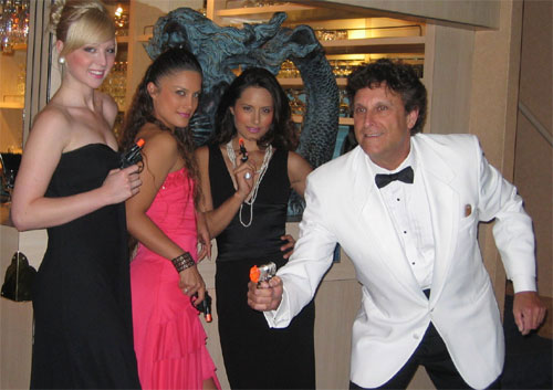 James Bond Look-a-Like  and his Bond Girls
